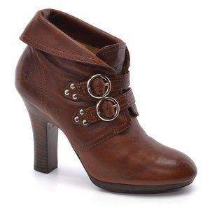 Frye Matilda 2 Strap Buckle Saddle Ankle Boots 9 M
